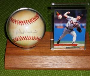 Vote Mike Mussina ~ Baseball Hall of Fame 2014 (yes, this is the only autographed baseball I own. I treasure it.)
