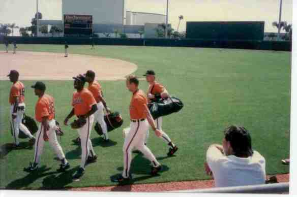 The Orioles' Cal Ripken, Jr. played in a record 2,632 consecutive major league games. (But, he took some Spring Training games off.)