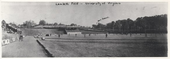 Lambeth Field, Charlottesville. Early 20th-century. Photo Courtesy of UVa Small Special Collections Library