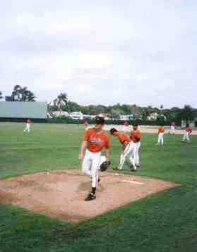 Pitcher Mike Mussina, one of my very favorite Orioles. He was inducted into the Orioles Hall of Fame in 2012. Look how close you can get in Spring Training!