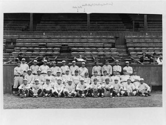 New York Yankees, Spring Training 1921. Babe Ruth is there in the center.