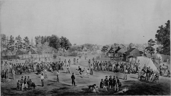 baseball with union prisioners 1863 salisbury nc