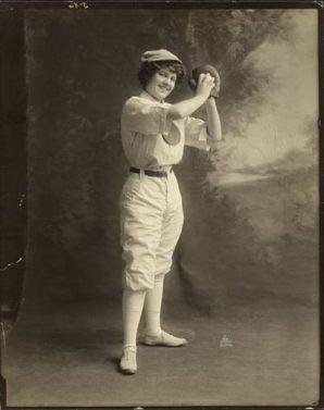 1913 baseball girl