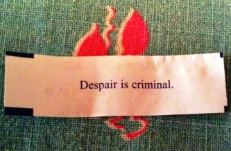 despair fortune cookie