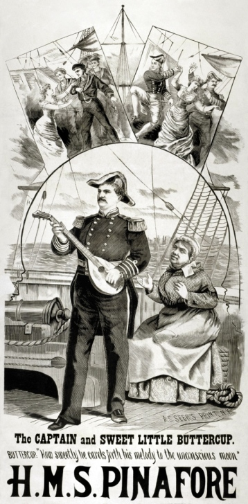 HMS Pinafore Poster 1879
