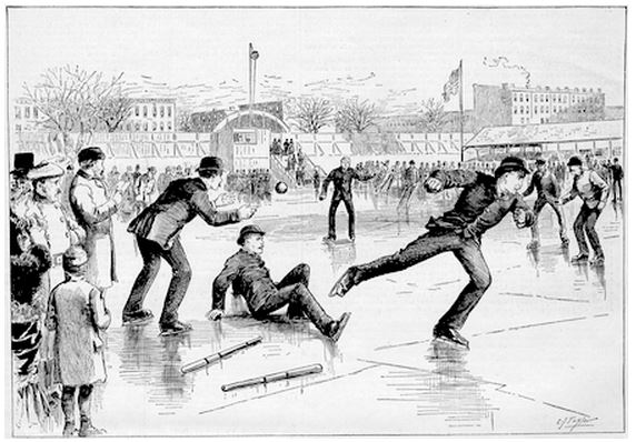 Ice baseball Washington Park 1884 by C.J. Taylor