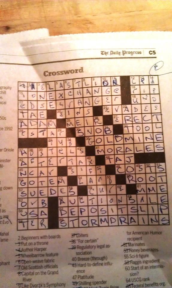 Gambling center briefly crossword clue