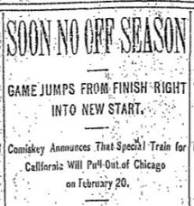 soon no off season 1912 headline november 7 1912