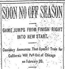 soon no off season 1912 headline november 7 1912