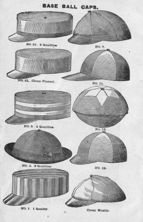 Baseball Caps Late c 1889 Spalding Guide