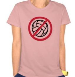 no volleyball