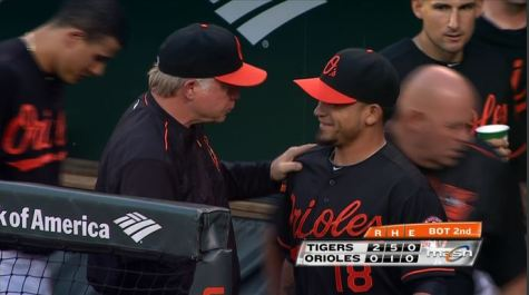 buck greets parra on friday