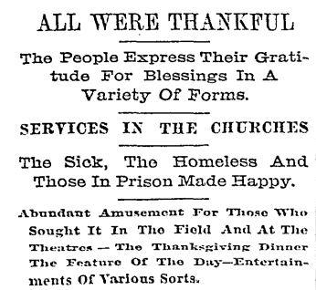 Baltimore Sun November 26 1897