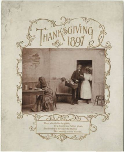 humphrey house thanksgiving menu 1897