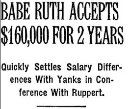 Babe Ruth Signs for 1930