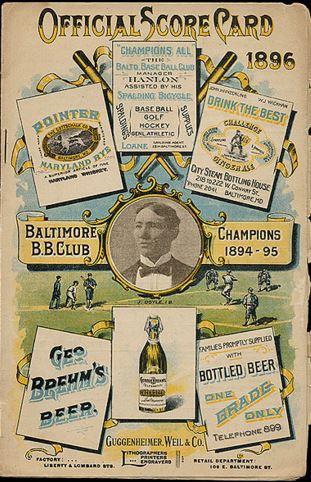 orioles scorecard 1896