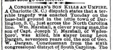 A Congressmans Son Kills Umpire Balt Sun 9 5 1889