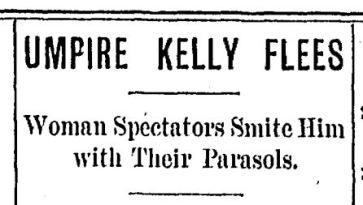 Umpire Kelly Flees Washington Post 9 3 1897