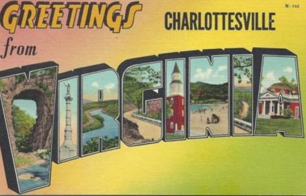 greetings from Charlottesville postcard