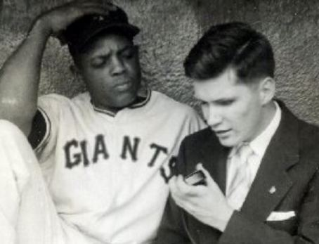 Ed Lucas and Willie Mays