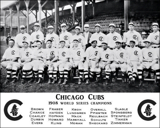 1908 World Series Champion Chicago Cubs