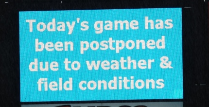 Game Postponed May 1 2016