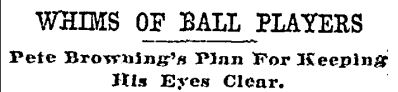 Whims of Ball Players Balt Sun 7 8 1906
