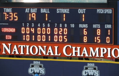 UVA ECU Final Score June 4 2016