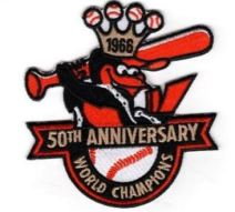 50th Anniversary 1966 World Series Patch