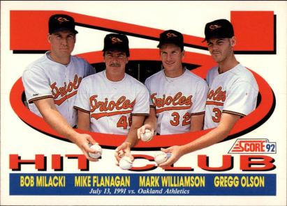 Milacki Flanagan Williamson Olson No Hitter 7 13 1991