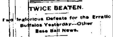 Twice Beaten Buffalo Morning Express July 5 1881