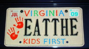 Eat The Virginia Vanity Plate