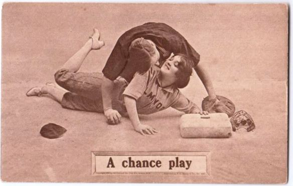 vintage-baseball-postcard-a-chance-play